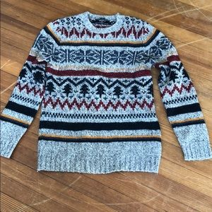 Forever 21 Sweaters - Men's Grey Fair Isle sweater